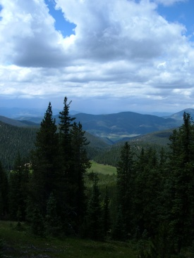 View from Monarch Pass on the Continental Divide Loop