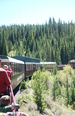 Scenic train trip, Leadville, CO.  70 miles from Ski Town Condos.
