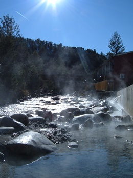Ski Town Condos offering great vacation packages including the natural hot springs.
