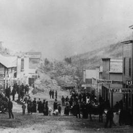 Garfield was a boomtown in the 1880's. The mining camp featured three hotels, 12 saloons, a dance hall, and gambling establishments