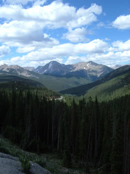 Enjoy the breathtaking views along Monarch Pass, surrounded by the San Isabel National Forest.  Photo is taken 6 miles from Ski Town Condos.